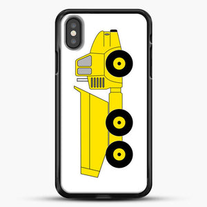 Construction Off Road Dump Truck iPhone X Case, Black Rubber Case | JoeYellow.com