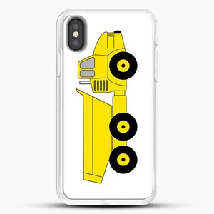 Construction Off Road Dump Truck iPhone X Case, White Rubber Case | JoeYellow.com