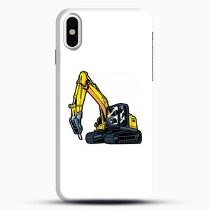 Construction Truck Drilling iPhone X Case, Black Snap 3D Case | JoeYellow.com