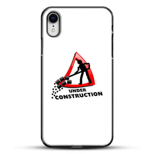 Construction Worker iPhone XR Case, Black Plastic Case | JoeYellow.com