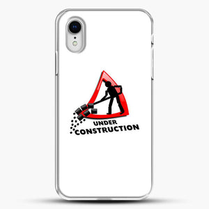 Construction Worker iPhone XR Case, White Plastic Case | JoeYellow.com
