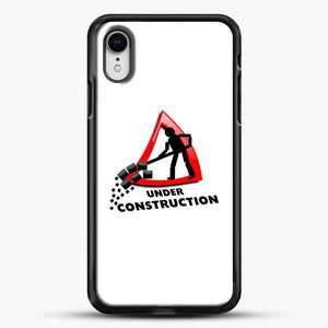 Construction Worker iPhone XR Case, Black Rubber Case | JoeYellow.com