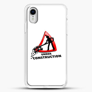 Construction Worker iPhone XR Case, White Rubber Case | JoeYellow.com
