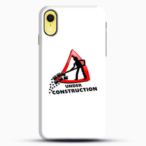 Construction Worker iPhone XR Case, Black Snap 3D Case | JoeYellow.com