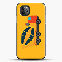 Load image into Gallery viewer, Construction Yellow Cement Truck iPhone 11 Pro Max Case, Black Plastic Case | JoeYellow.com