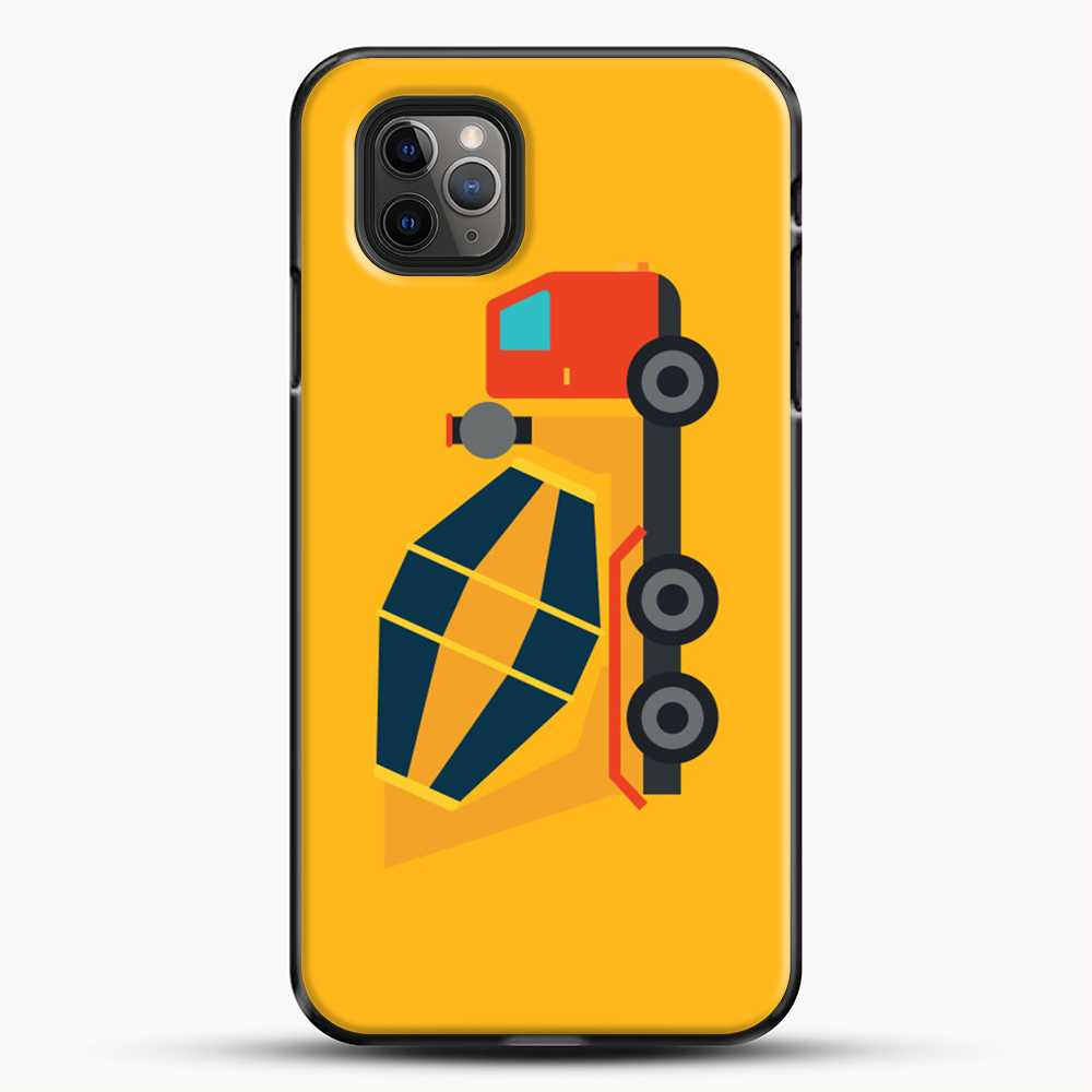 Construction Yellow Cement Truck iPhone 11 Pro Max Case, Black Plastic Case | JoeYellow.com
