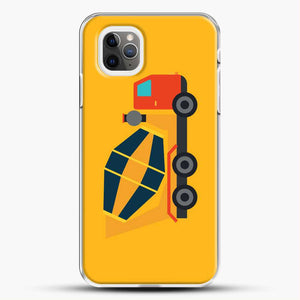 Construction Yellow Cement Truck iPhone 11 Pro Max Case, White Plastic Case | JoeYellow.com