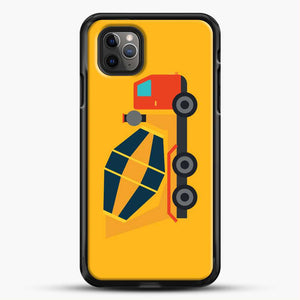 Construction Yellow Cement Truck iPhone 11 Pro Max Case, Black Rubber Case | JoeYellow.com