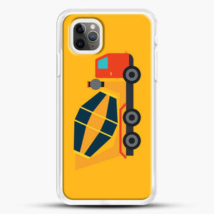 Construction Yellow Cement Truck iPhone 11 Pro Max Case, White Rubber Case | JoeYellow.com