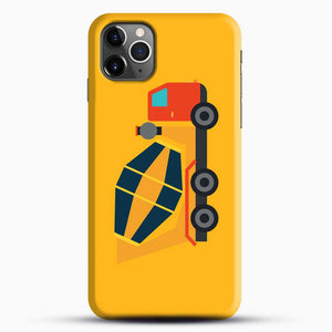 Construction Yellow Cement Truck iPhone 11 Pro Max Case, Black Snap 3D Case | JoeYellow.com