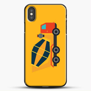 Construction Yellow Cement Truck iPhone X Case, Black Plastic Case | JoeYellow.com