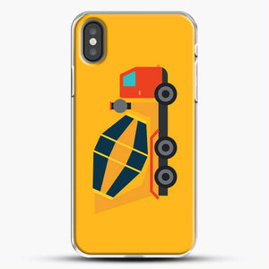 Construction Yellow Cement Truck iPhone X Case, White Plastic Case | JoeYellow.com