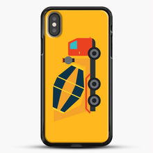 Load image into Gallery viewer, Construction Yellow Cement Truck iPhone X Case, Black Rubber Case | JoeYellow.com