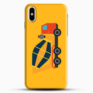 Construction Yellow Cement Truck iPhone X Case, Black Snap 3D Case | JoeYellow.com