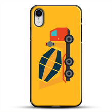 Load image into Gallery viewer, Construction Yellow Cement Truck iPhone XR Case, Black Plastic Case | JoeYellow.com