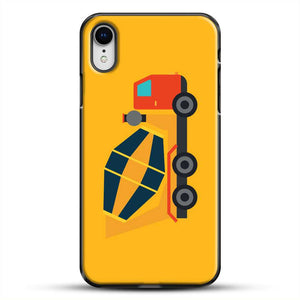 Construction Yellow Cement Truck iPhone XR Case, Black Plastic Case | JoeYellow.com
