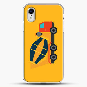 Construction Yellow Cement Truck iPhone XR Case, White Plastic Case | JoeYellow.com