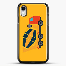 Load image into Gallery viewer, Construction Yellow Cement Truck iPhone XR Case, Black Rubber Case | JoeYellow.com