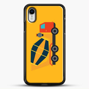 Construction Yellow Cement Truck iPhone XR Case, Black Rubber Case | JoeYellow.com