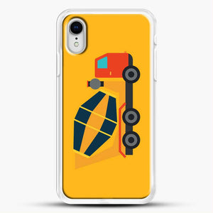 Construction Yellow Cement Truck iPhone XR Case, White Rubber Case | JoeYellow.com