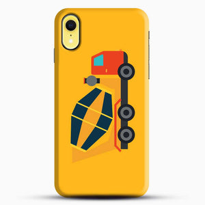 Construction Yellow Cement Truck iPhone XR Case, Black Snap 3D Case | JoeYellow.com