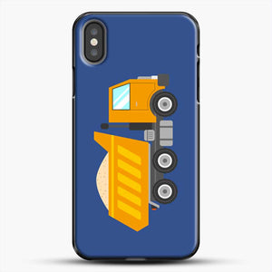 Construction Yellow Dump Truck iPhone X Case, Black Plastic Case | JoeYellow.com