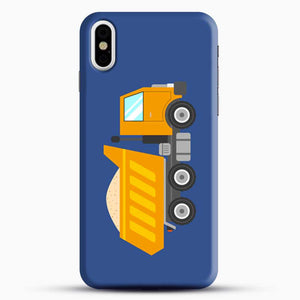 Construction Yellow Dump Truck iPhone X Case, Black Snap 3D Case | JoeYellow.com