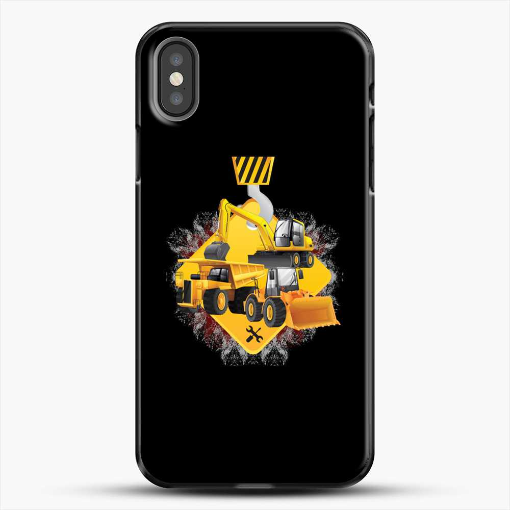 Construction Yellow Truck iPhone X Case, Black Plastic Case | JoeYellow.com
