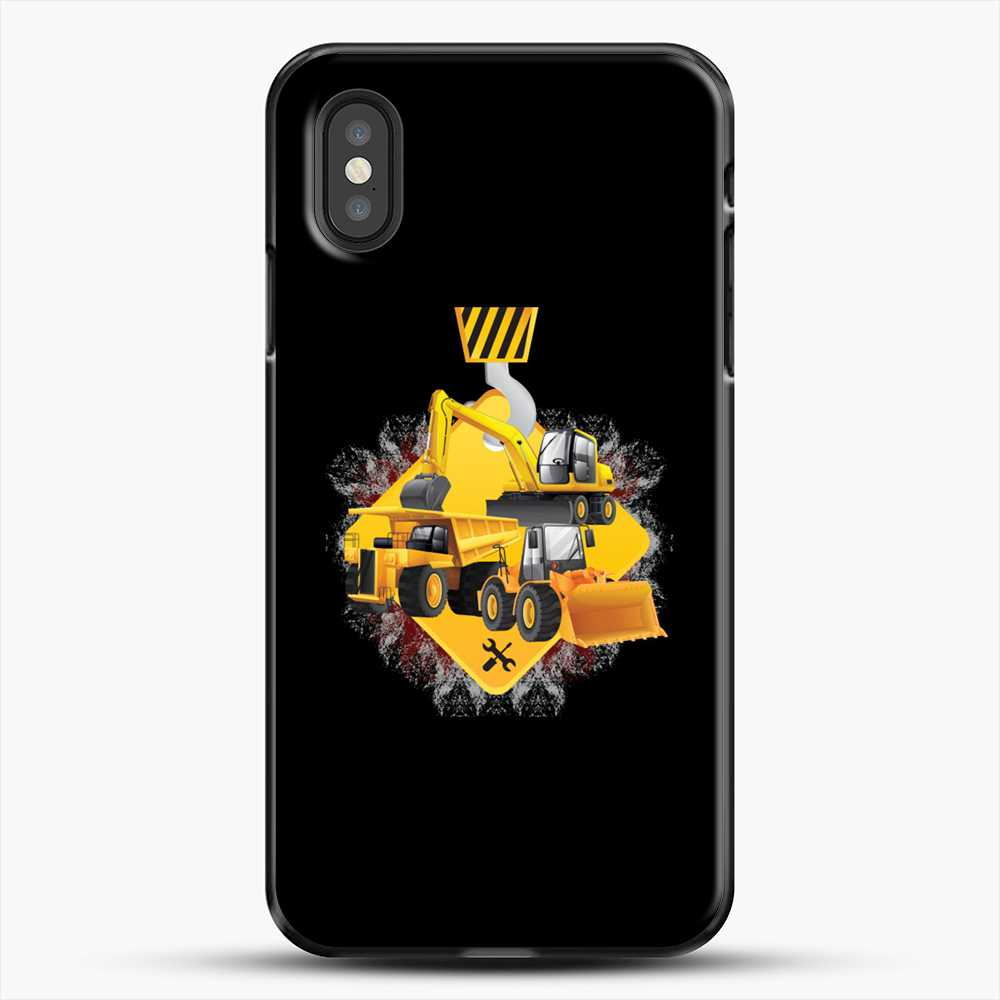 Construction Yellow Truck iPhone XS Case, Black Plastic Case | JoeYellow.com