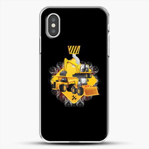 Construction Yellow Truck iPhone XS Case, White Plastic Case | JoeYellow.com