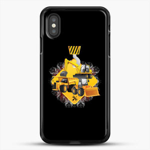 Construction Yellow Truck iPhone XS Case, Black Rubber Case | JoeYellow.com