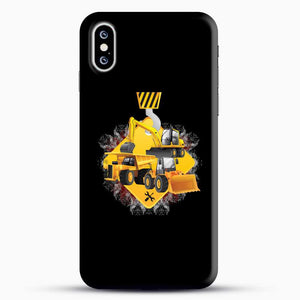 Construction Yellow Truck iPhone XS Case, Black Snap 3D Case | JoeYellow.com