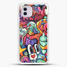 Load image into Gallery viewer, Copic Marker Doodle iPhone 11 Case, White Rubber Case | JoeYellow.com