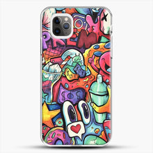 Load image into Gallery viewer, Copic Marker Doodle iPhone 11 Pro Max Case, White Plastic Case | JoeYellow.com