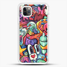 Load image into Gallery viewer, Copic Marker Doodle iPhone 11 Pro Max Case, White Rubber Case | JoeYellow.com