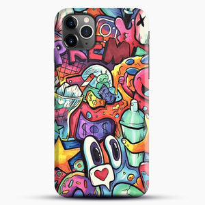 Copic Marker Doodle iPhone 11 Pro Max Case, Black Snap 3D Case | JoeYellow.com