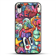Load image into Gallery viewer, Copic Marker Doodle iPhone XR Case, Black Plastic Case | JoeYellow.com