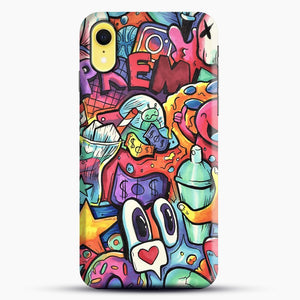 Copic Marker Doodle iPhone XR Case, Black Snap 3D Case | JoeYellow.com