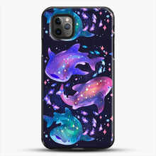 Load image into Gallery viewer, Cosmic Whale Shark iPhone 11 Pro Max Case, Black Plastic Case | JoeYellow.com