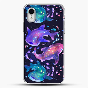Cosmic Whale Shark iPhone XR Case, White Plastic Case | JoeYellow.com