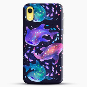 Cosmic Whale Shark iPhone XR Case, Black Snap 3D Case | JoeYellow.com