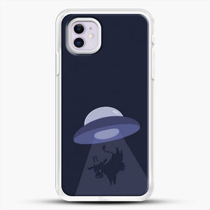 Cow And Ufo iPhone 11 Case, White Rubber Case | JoeYellow.com