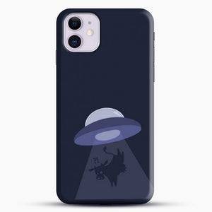 Cow And Ufo iPhone 11 Case, Black Snap 3D Case | JoeYellow.com