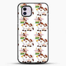 Load image into Gallery viewer, Cow Eat Grass iPhone 11 Case, Black Plastic Case | JoeYellow.com