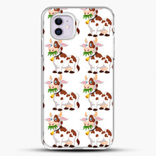 Load image into Gallery viewer, Cow Eat Grass iPhone 11 Case, White Plastic Case | JoeYellow.com