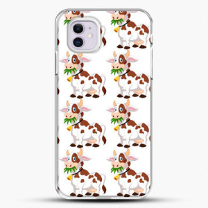 Cow Eat Grass iPhone 11 Case, White Plastic Case | JoeYellow.com