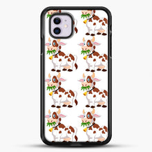 Load image into Gallery viewer, Cow Eat Grass iPhone 11 Case, Black Rubber Case | JoeYellow.com