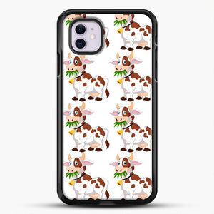 Cow Eat Grass iPhone 11 Case, Black Rubber Case | JoeYellow.com