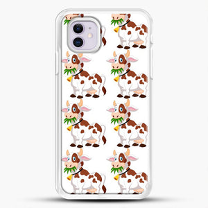 Cow Eat Grass iPhone 11 Case, White Rubber Case | JoeYellow.com