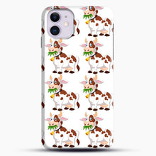 Load image into Gallery viewer, Cow Eat Grass iPhone 11 Case, Black Snap 3D Case | JoeYellow.com